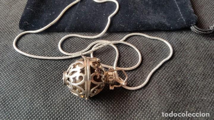 Joyeria: Collar con colgante redondo con una piedra de jade en el interior - Foto 3 - 213824112