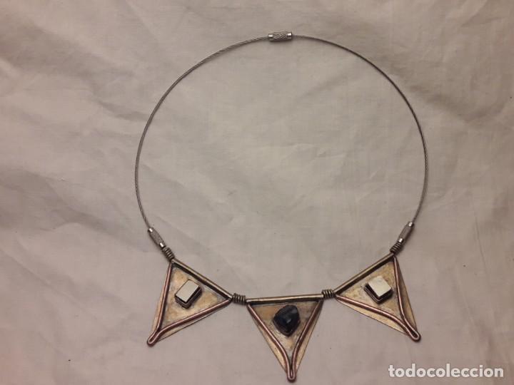 Joyeria: Bello collar de bronce cobre pirita y lapislázuli - Foto 2 - 200554423