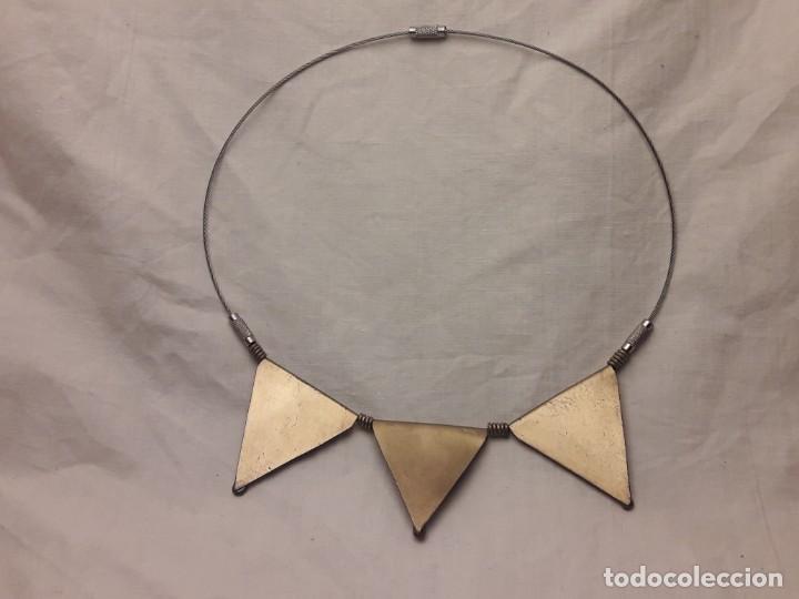 Joyeria: Bello collar de bronce cobre pirita y lapislázuli - Foto 6 - 200554423