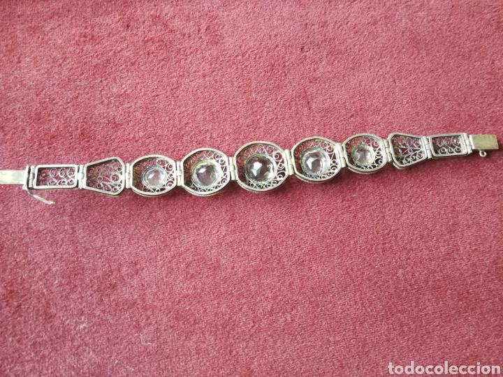 Joyeria: Brazalete filigrana de plata dorada. Piedras faceta das semipreciosas - Foto 6 - 201160630