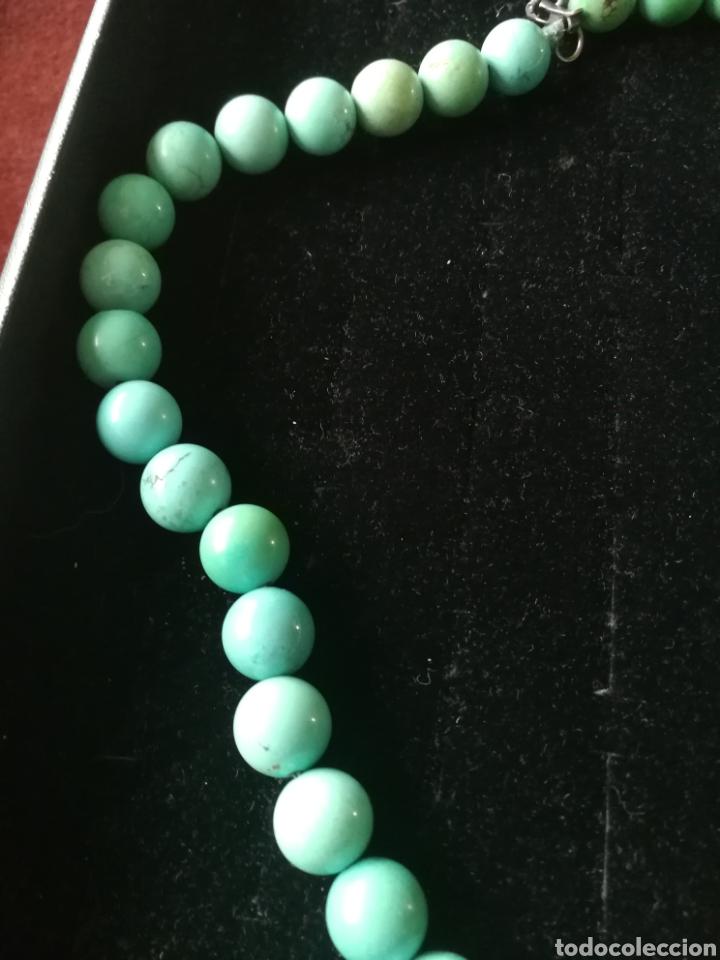 Joyeria: Collar bolas turquesas y plata - Foto 3 - 201161420