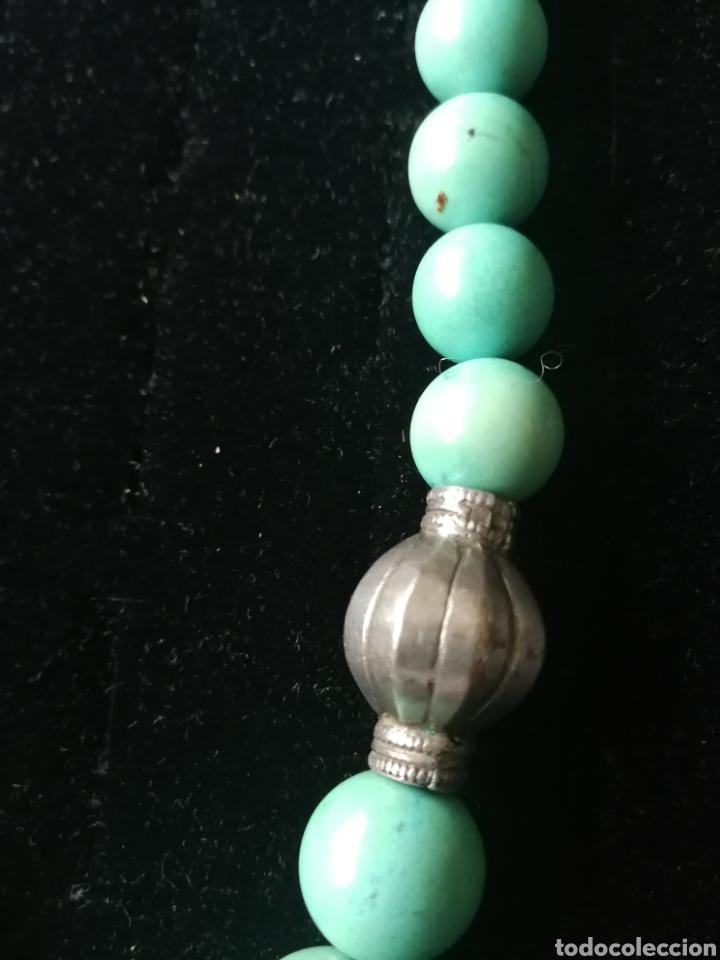 Joyeria: Collar bolas turquesas y plata - Foto 4 - 201161420
