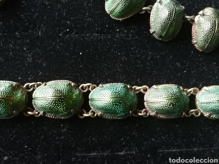 Joyeria: Conjunto Victoriano escarabajos. Plata oro y esmalte - Foto 3 - 201161766