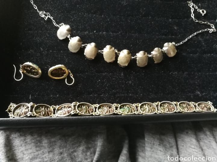 Joyeria: Conjunto Victoriano escarabajos. Plata oro y esmalte - Foto 6 - 201161766