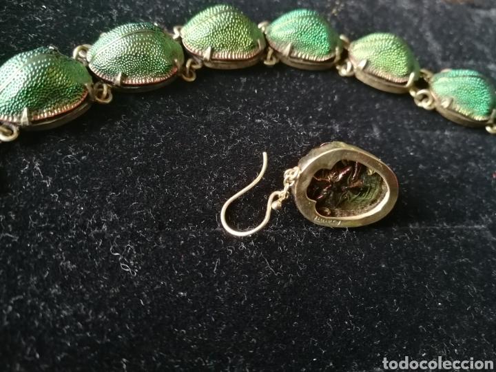 Joyeria: Conjunto Victoriano escarabajos. Plata oro y esmalte - Foto 7 - 201161766