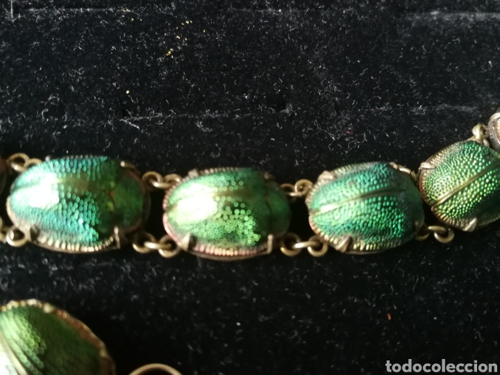 Joyeria: Conjunto Victoriano escarabajos. Plata oro y esmalte - Foto 8 - 201161766