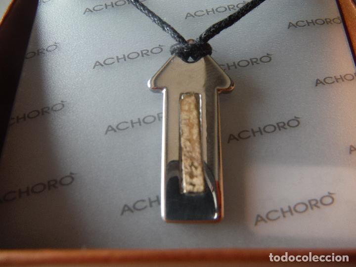 Joyeria: COLGANTE DE ACERO Y CHAPADO EN ORO DE ACHORO - Foto 2 - 201247166