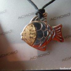 Joyeria: COLGANTE DE ACERO Y CHAPADO EN ORO DE ACHORO. Lote 201247442