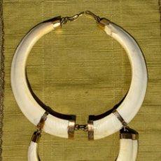 Joyeria: ESPECTACULAR GARGANTILLA DOBLE 2 NIVELES, ORO 18KT Y MARFIL. ALTA JOYERÍA VINTAGE AÑOS 60/70.. Lote 201263773