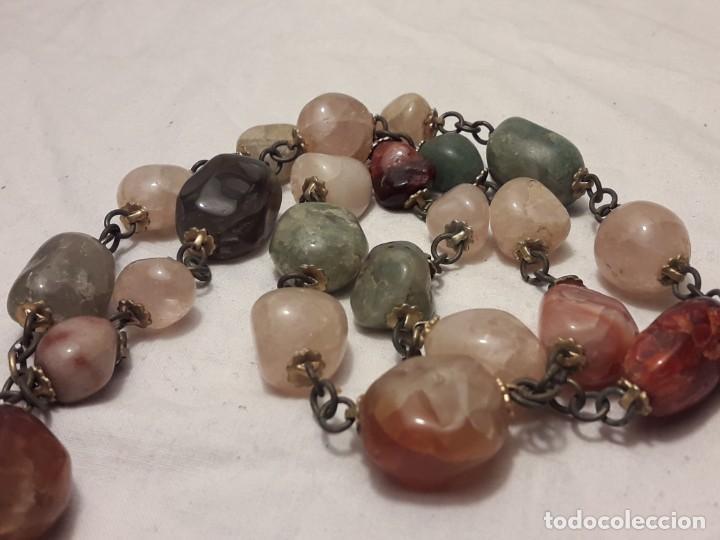 Joyeria: Bello collar de piedras naturales variadas Cuarzo rosa Aventurina Ágata - Foto 2 - 201307100