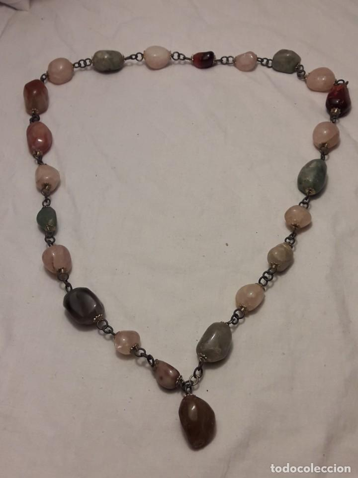 Joyeria: Bello collar de piedras naturales variadas Cuarzo rosa Aventurina Ágata - Foto 3 - 201307100