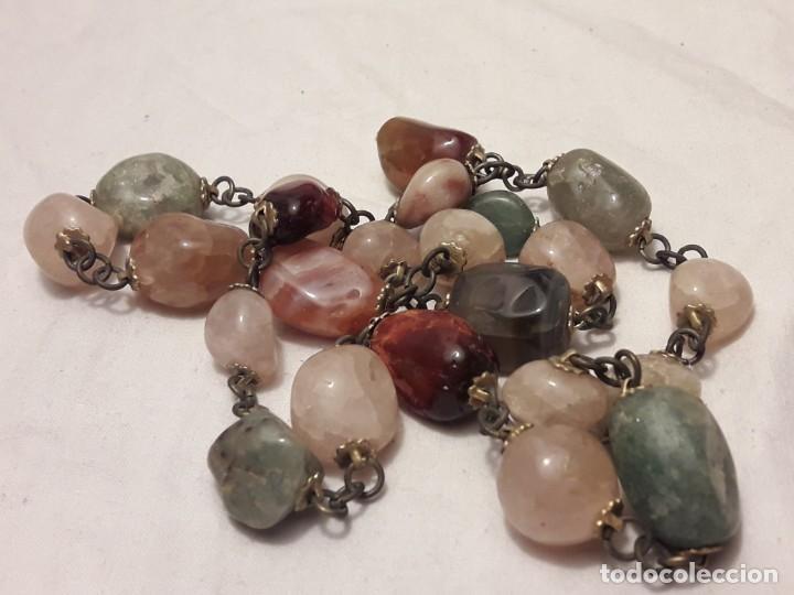 Joyeria: Bello collar de piedras naturales variadas Cuarzo rosa Aventurina Ágata - Foto 4 - 201307100