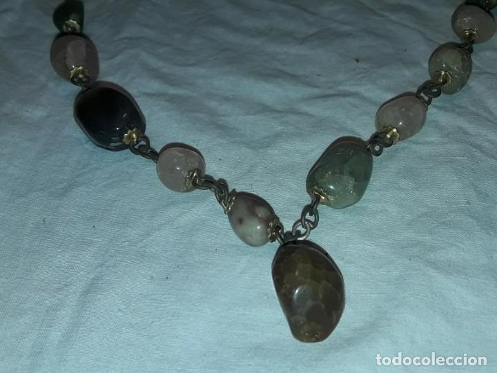 Joyeria: Bello collar de piedras naturales variadas Cuarzo rosa Aventurina Ágata - Foto 6 - 201307100