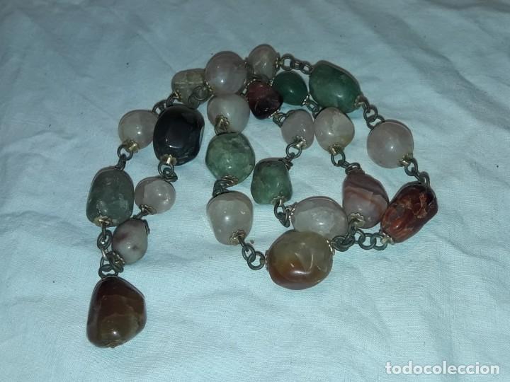 Joyeria: Bello collar de piedras naturales variadas Cuarzo rosa Aventurina Ágata - Foto 8 - 201307100