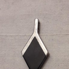 Joyeria: BELLO COLGANTE PLATA 925 CONTRASTADA Y OBSIDIANA . Lote 201311768