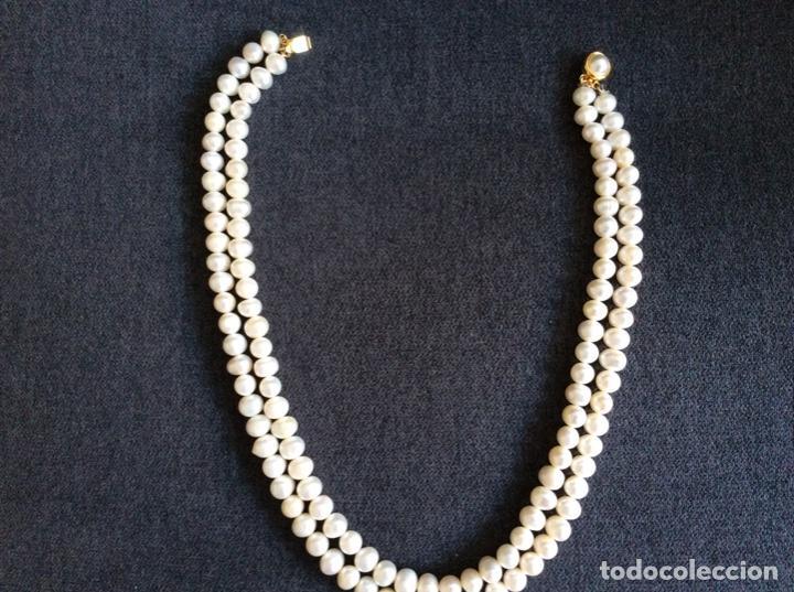 Joyeria: Collar de perlas cultivadas de dos vueltas que se puede hacer largo cerrando el broche en el centro - Foto 4 - 194901945