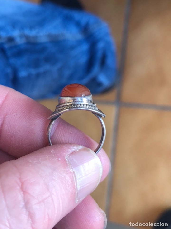 Joyeria: Precioso anillo en plata de ley y piedra roja - Foto 3 - 201492572