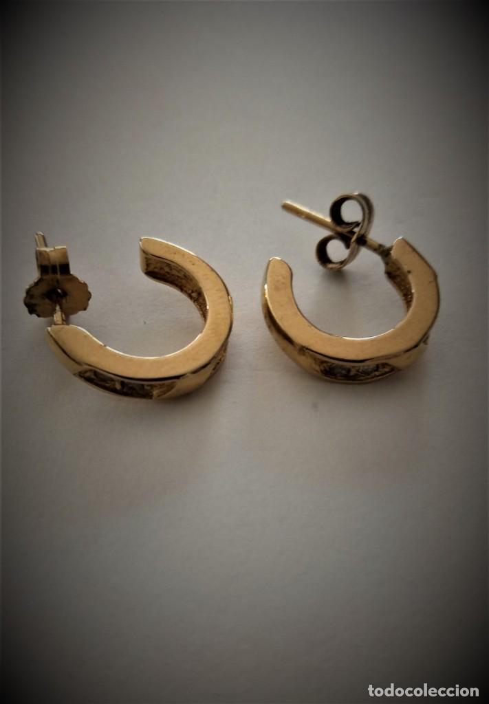 Joyeria: Pendientes chapados oro - Foto 2 - 202620481