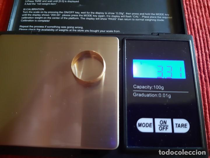 Joyeria: Antigua alianza de bodas de los años 70 de oro de 18 quilates - Foto 4 - 202792303