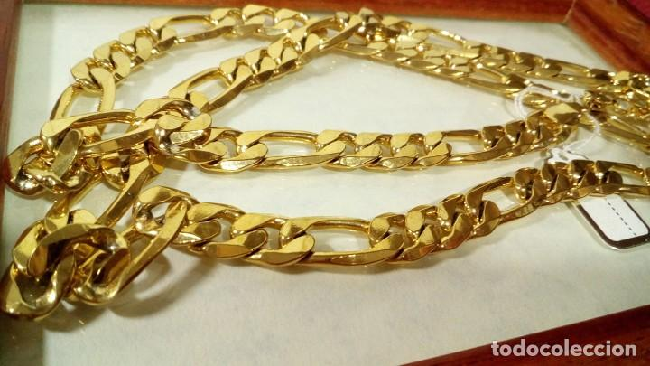 Joyeria: CADENA FIGARO GOLD FILLED 18K 9MM X 70CM - Foto 4 - 173867107
