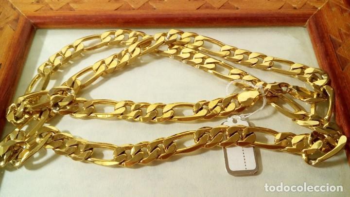 CADENA FIGARO GOLD FILLED 18K 9MM X 70CM (Joyería - Cadenas Antiguas)