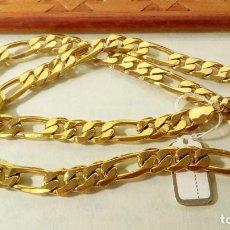 Joyeria: CADENA FIGARO GOLD FILLED 18K 9MM X 70CM. Lote 173867107