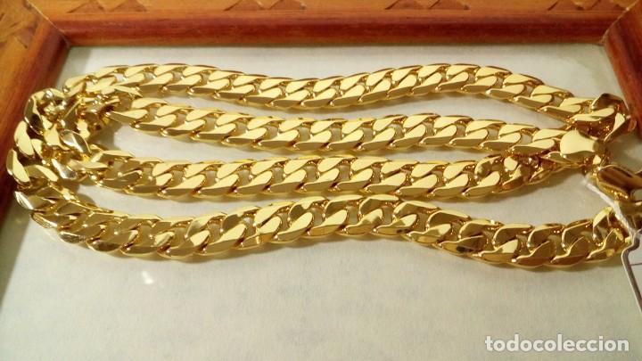 CADENA CUBANA GOLD FILLED 18K 10MM X 60CM (Joyería - Cadenas Antiguas)