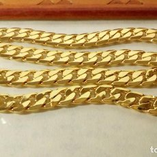 Joyeria: CADENA CUBANA GOLD FILLED 18K 10MM X 60CM. Lote 203066112