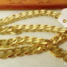 Joyeria: CADENA CUBANA NEW STYLE GOLD FILLED 18K 10MM X 60CM. Lote 203069628