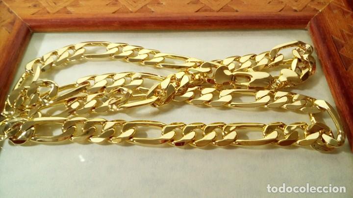 CADENA FÍGARO GOLD FILLED 18K 10MM X 60CM (Joyería - Cadenas Antiguas)