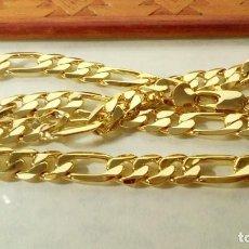 Joyeria: CADENA FÍGARO GOLD FILLED 18K 10MM X 60CM. Lote 203073223