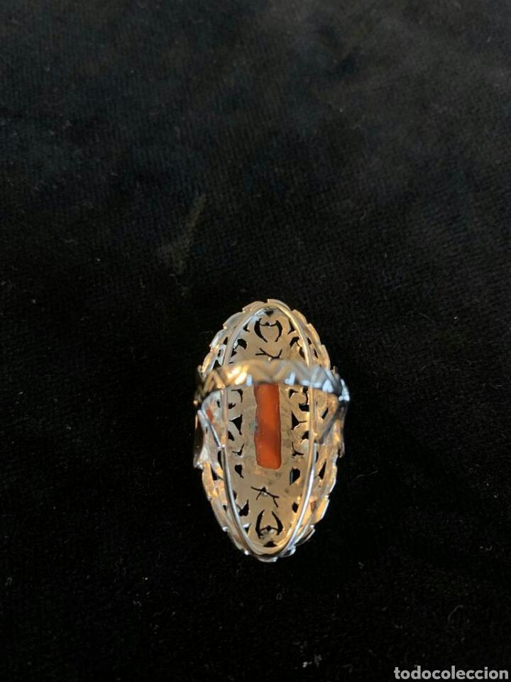 Joyeria: Anillo de plata y coral - Foto 2 - 203086340