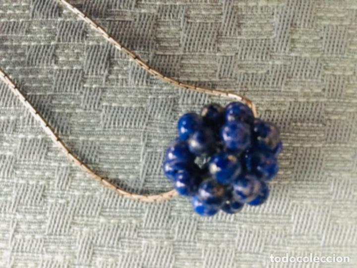 Joyeria: Cadena de plata y colgante de lapislázuli - Foto 2 - 203593502