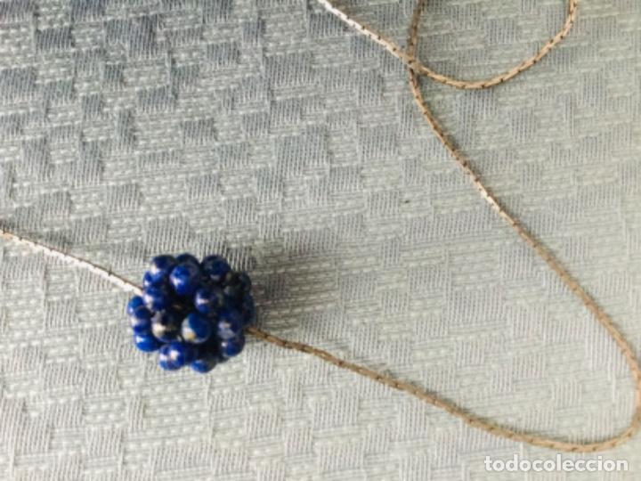 Joyeria: Cadena de plata y colgante de lapislázuli - Foto 3 - 203593502