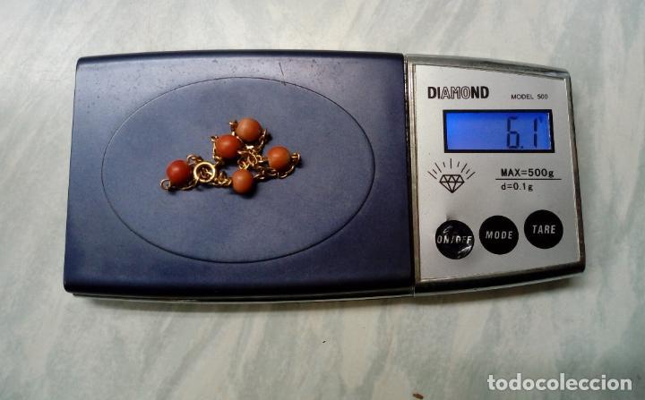 Joyeria: pulsera de oro 18 k y coral - Foto 3 - 203767353