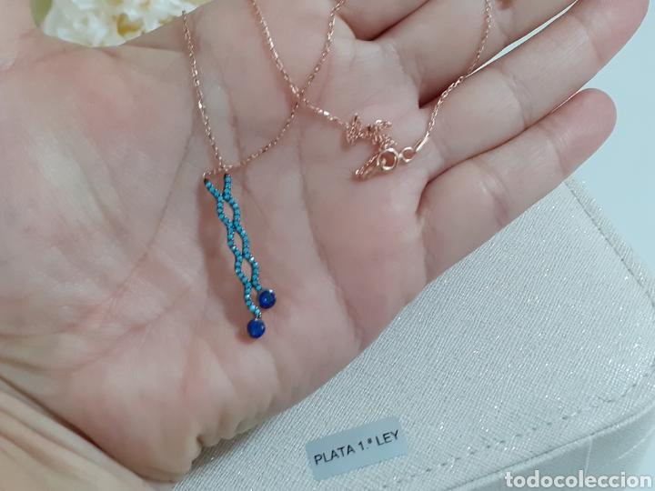 Joyeria: Collar de plata oro turquesas y Zafiro - Foto 2 - 203887086