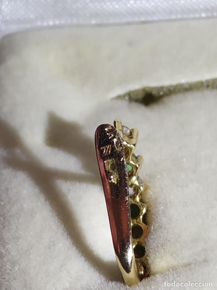 Joyeria: Conjunto anillo y pendientes oro 18kt - Foto 7 - 143693480