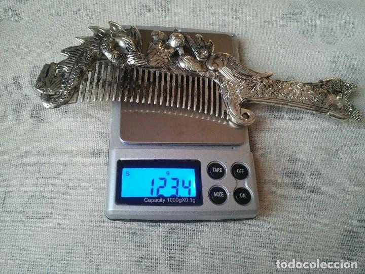 Joyeria: Peine de plata tibetana en forma de Ave Fenix y del Dragon. De hombre y de mujer. Budista tibetano. - Foto 5 - 204305252