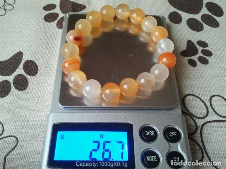 Joyeria: Pulsera de cuentas de cuarzo rosa. Pulsera amuleto protector. Brazalete talisman mineral unisex zen - Foto 2 - 204309637