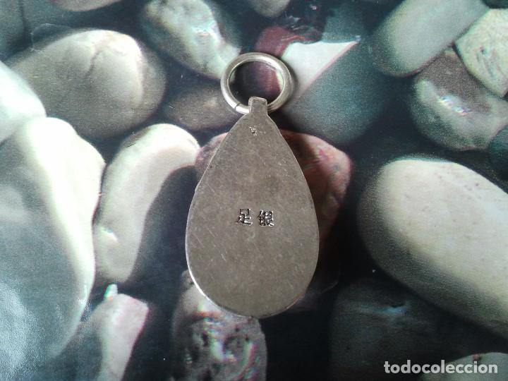 Joyeria: Precioso colgante de plata tibetana. Amuleto budista tibetano. Talisman oriental. Orfebrería china - Foto 6 - 205022531