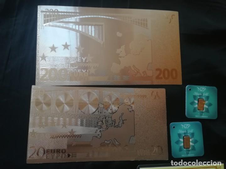 Joyeria: Super lote Lingotes y billetes, 1 Gramo de oro puro,1grain, 2 NZP todos 24K y 2 billetes plata,9,99 - Foto 2 - 201365881