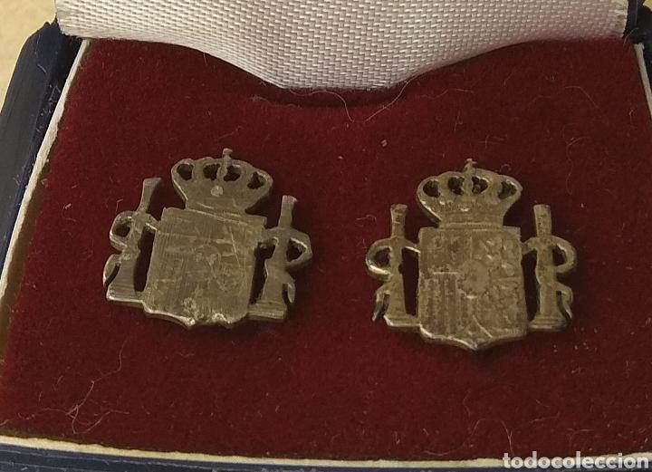 Joyeria: Antiguos Pendientes Escudo de España - Plata - - Foto 9 - 206408996