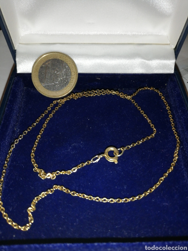 BONITA CADENA ANTIGUA FINA.. EN ORO 18K GF GOLD FILLED (Joyería - Cadenas Antiguas)