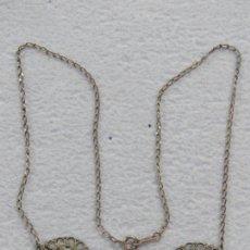 Joyeria: BONITO COLLAR EN PLATA DE LEY 925 CON CERAMICA DE LIMOGES ESMALTADA, DATA DE 1910. Lote 206979492