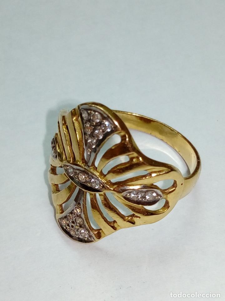 Joyeria: sortija anillo oro 18 kilates bicolor ART DECO con 19 brillantes V1 - 4.3gr - Foto 3 - 207057822