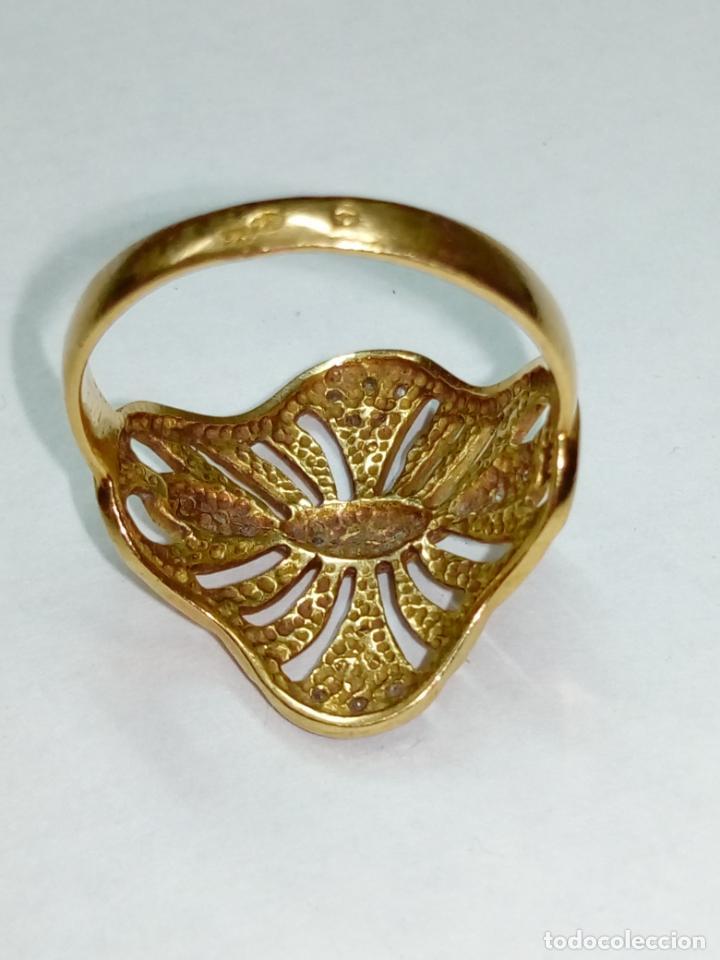 Joyeria: sortija anillo oro 18 kilates bicolor ART DECO con 19 brillantes V1 - 4.3gr - Foto 5 - 207057822