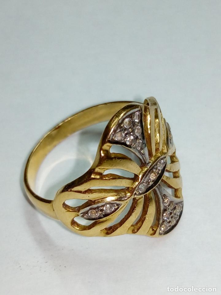 Joyeria: sortija anillo oro 18 kilates bicolor ART DECO con 19 brillantes V1 - 4.3gr - Foto 6 - 207057822
