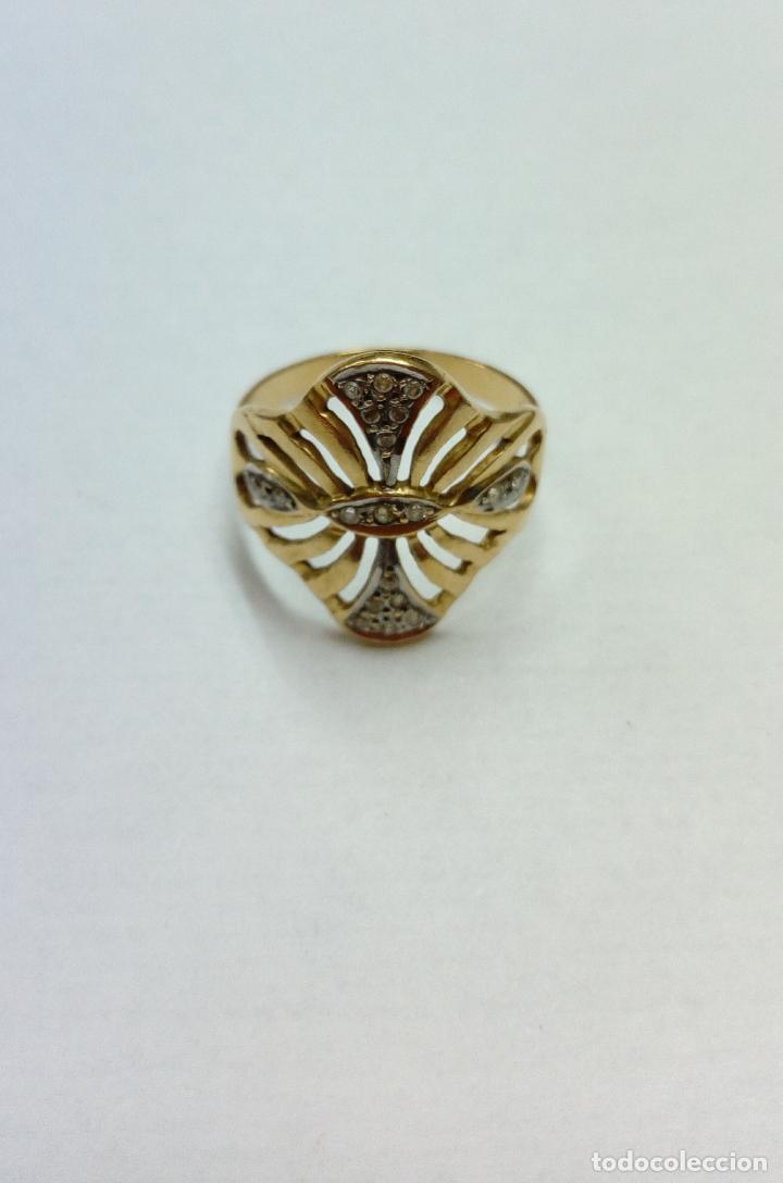 Joyeria: sortija anillo oro 18 kilates bicolor ART DECO con 19 brillantes V1 - 4.3gr - Foto 8 - 207057822