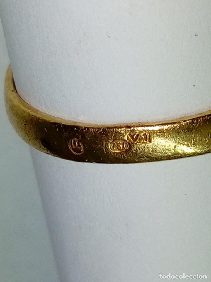 Joyeria: sortija anillo oro 18 kilates bicolor ART DECO con 19 brillantes V1 - 4.3gr - Foto 9 - 207057822