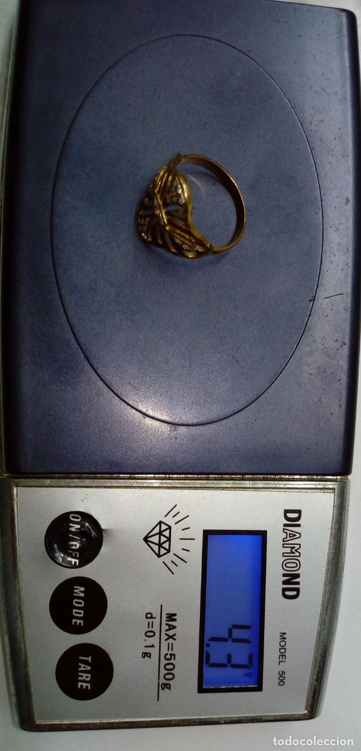 Joyeria: sortija anillo oro 18 kilates bicolor ART DECO con 19 brillantes V1 - 4.3gr - Foto 10 - 207057822